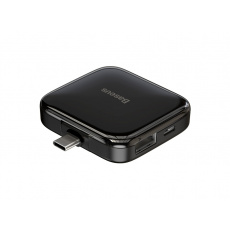 Baseus Fully Folded Portable 4in1 Type-C HUB (Type-C to USB2.0*4 with Power Supply) Black