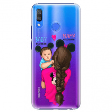 Plastové pouzdro iSaprio - Mama Mouse Brunette and Boy - Huawei Y9 2019