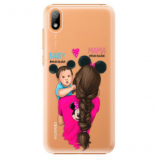 Plastové pouzdro iSaprio - Mama Mouse Brunette and Boy - Huawei Y5 2019
