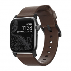 Nomad Leather Strap Brown, black - AW 45/44/42 mm