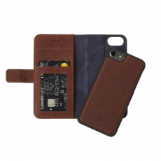 Decoded Leather 2in1 Wallet, brown - iPhone SE/8/7