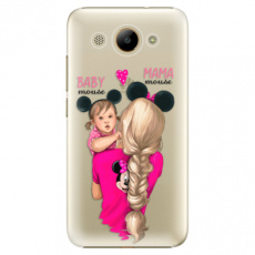 Plastové pouzdro iSaprio - Mama Mouse Blond and Girl - Huawei Y3 2017