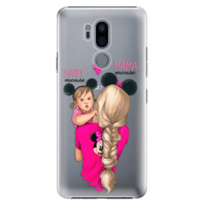 Plastové pouzdro iSaprio - Mama Mouse Blond and Girl - LG G7