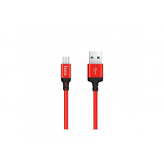 Hoco Times Speed Micro USB Charging Cable (1m) (Red and Black)