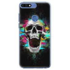 Plastové pouzdro iSaprio - Skull in Colors - Huawei Honor 7C