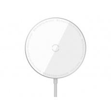 Baseus Simple Mini Magnetic Wireless Charger (For iPhone 12 with Type-C Cable 1.5M) White