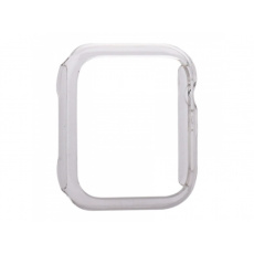 COTEetCI PC Plated Protective Case for Apple Watch 44mm Transparent