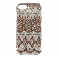 GUHCP7TGTA Guess Ethnic Chic Tribal 3D TPU Pouzdro Taupe pro iPhone 7/8/SE2020