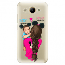 Plastové pouzdro iSaprio - Mama Mouse Brunette and Boy - Huawei Y3 2017