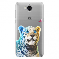 Silikonové pouzdro iSaprio - Leopard With Butterfly - Huawei Y5 2017 / Y6 2017